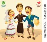 typical brazilian june party... | Shutterstock .eps vector #655731118