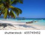 the beach playita at las... | Shutterstock . vector #655745452
