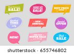 big set of trendy sale... | Shutterstock .eps vector #655746802