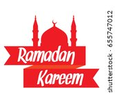 ramadan kareem greeting card... | Shutterstock .eps vector #655747012