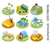isometric ecology concept.... | Shutterstock .eps vector #655748446