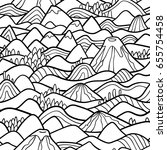 vector seamless pattern with... | Shutterstock .eps vector #655754458
