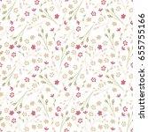 vintage flowery pattern....   Shutterstock .eps vector #655755166