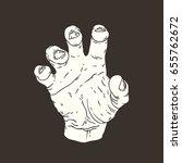 vector hand drawn illustration... | Shutterstock .eps vector #655762672