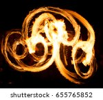 abstract background of flame on ... | Shutterstock . vector #655765852