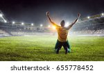 he is the champ . mixed media | Shutterstock . vector #655778452
