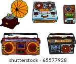 vector   set of retro tape... | Shutterstock .eps vector #65577928