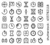 timer icons set. set of 36...   Shutterstock .eps vector #655782118