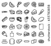 slice icons set. set of 36... | Shutterstock .eps vector #655783858