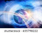 digital world  connectivity... | Shutterstock . vector #655798222