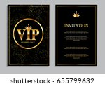abstract luxury vip members... | Shutterstock .eps vector #655799632