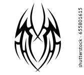 tattoo tribal vector design....   Shutterstock .eps vector #655801615