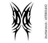 tribal tattoo art designs....   Shutterstock .eps vector #655801642