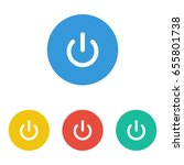 power button icon isolated on... | Shutterstock .eps vector #655801738