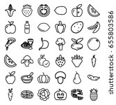 vegetarian icons set. set of 36 ... | Shutterstock .eps vector #655803586