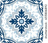 beautiful ornamental tile... | Shutterstock .eps vector #655806892