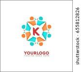 k letter social relationship... | Shutterstock .eps vector #655812826