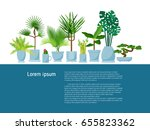 set of various vector indoor... | Shutterstock .eps vector #655823362
