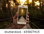 travel concept  close up of a... | Shutterstock . vector #655827415