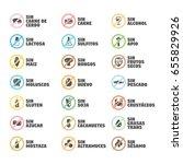 isolated vector logo set badge... | Shutterstock .eps vector #655829926