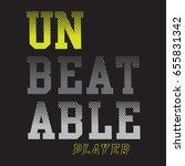 sport player typography   tee... | Shutterstock .eps vector #655831342