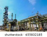 industrial view at oil refinery | Shutterstock . vector #655832185