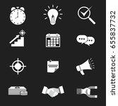 twelve business icon. vector... | Shutterstock .eps vector #655837732