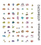 fish and marine icons | Shutterstock . vector #655845292