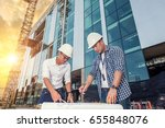 engineers are monitoring the... | Shutterstock . vector #655848076