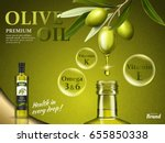 olive oil ad with some of its... | Shutterstock .eps vector #655850338