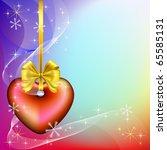 vector christmas background... | Shutterstock .eps vector #65585131