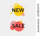 vector sale tag. set of circle... | Shutterstock .eps vector #655851475