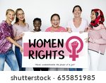 diverse woman together with... | Shutterstock . vector #655851985