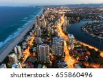 southern gold coast looking... | Shutterstock . vector #655860496