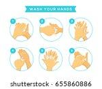 wash your hand   Shutterstock .eps vector #655860886