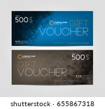 gift voucher template design | Shutterstock .eps vector #655867318