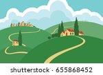 vector illustration rural... | Shutterstock .eps vector #655868452
