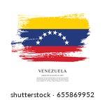 flag of venezuela  brush stroke ... | Shutterstock .eps vector #655869952