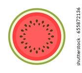 icon of a sweet watermelon... | Shutterstock . vector #655872136