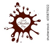 world chocolate day. vector... | Shutterstock .eps vector #655875022