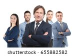 group of business people on... | Shutterstock . vector #655882582