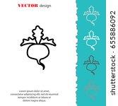 web line icon. sugar beet | Shutterstock .eps vector #655886092