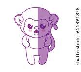 monkey kawaii cartoon | Shutterstock .eps vector #655891828