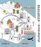map of venice | Shutterstock .eps vector #655895938