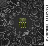 restaurant food menu vintage... | Shutterstock .eps vector #655897915
