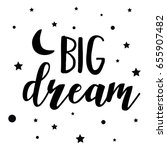 Big Dream And Star Background...
