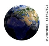 planet earth in space... | Shutterstock . vector #655917526