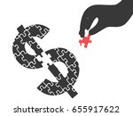 hand with money puzzle | Shutterstock .eps vector #655917622