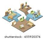 different isometric modern... | Shutterstock .eps vector #655920376