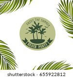 vector banner with palm tree... | Shutterstock .eps vector #655922812